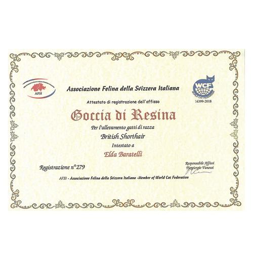 Certificato Allevamento